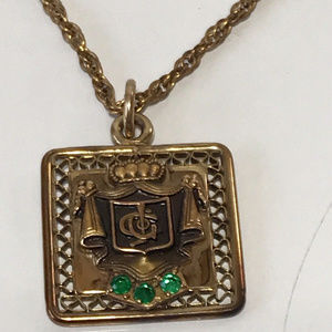 """Jewelry - 12k Gold Filled Society Pendant & 18"""" Necklace"""